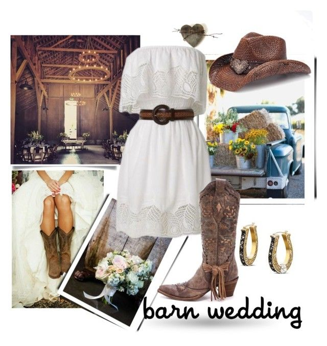"""Country Wedding"" by queenofsienna ❤ liked on Polyvore featuring Peter Grimm, The Bradford Exchange, country, bestdressedguest and barnwedding"