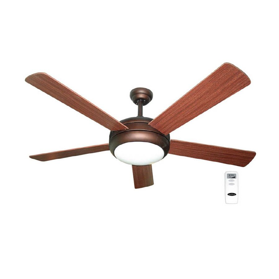 Shop harbor breeze aero 52 in bronze downrod mount ceiling fan with shop harbor breeze aero 52 in bronze downrod mount ceiling fan with light kit and remote control at lowes aloadofball Choice Image