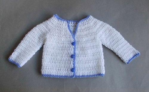 df8f9023f Ravelry  Parma - Crochet Baby Jacket pattern by marianna mel ...