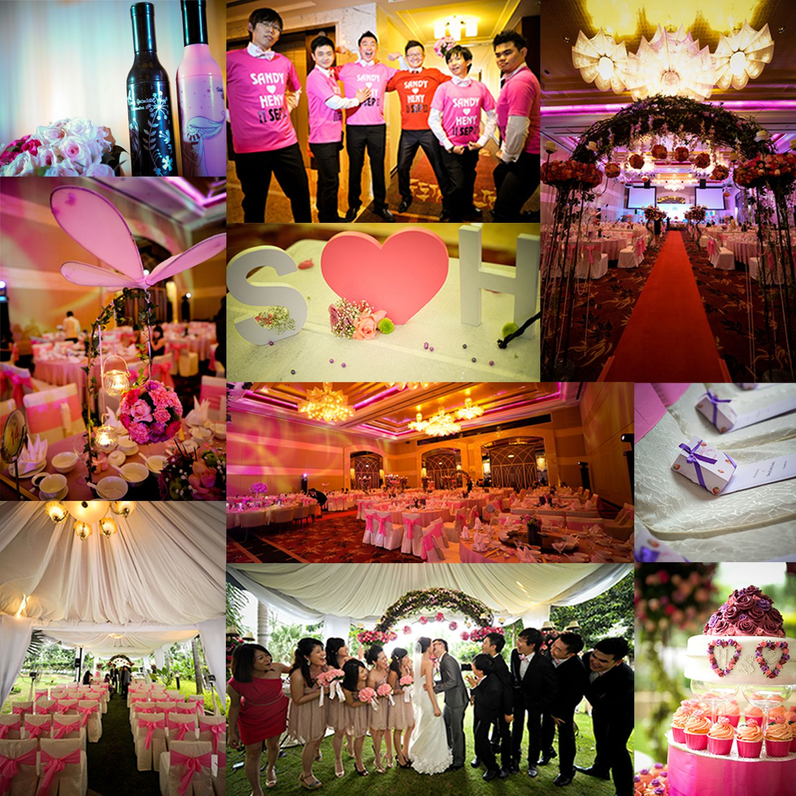 Wedding Color Pink, Fuchsia & Purple Wedding Theme Fairy Tale
