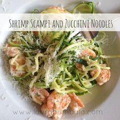 Shrimp Scampi & Zucchini Noodles, 21 day fix recipe