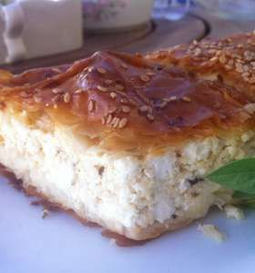Traditional Tiropita recipe (Greek cheese Pie with feta)