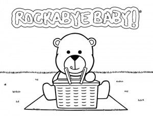 todays the day the teddy bears have their picnic and rockabye baby has a coloring
