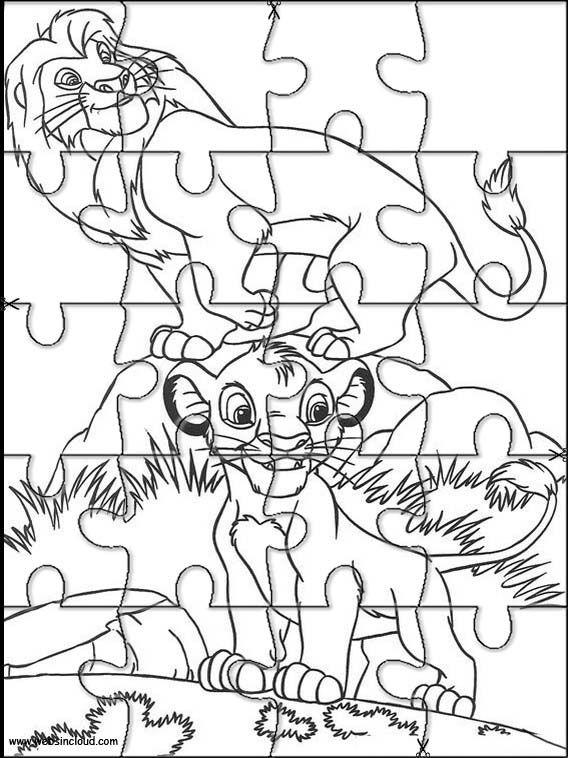 Puzzles Rompecabezas recortables para imprimir para nios El Rey
