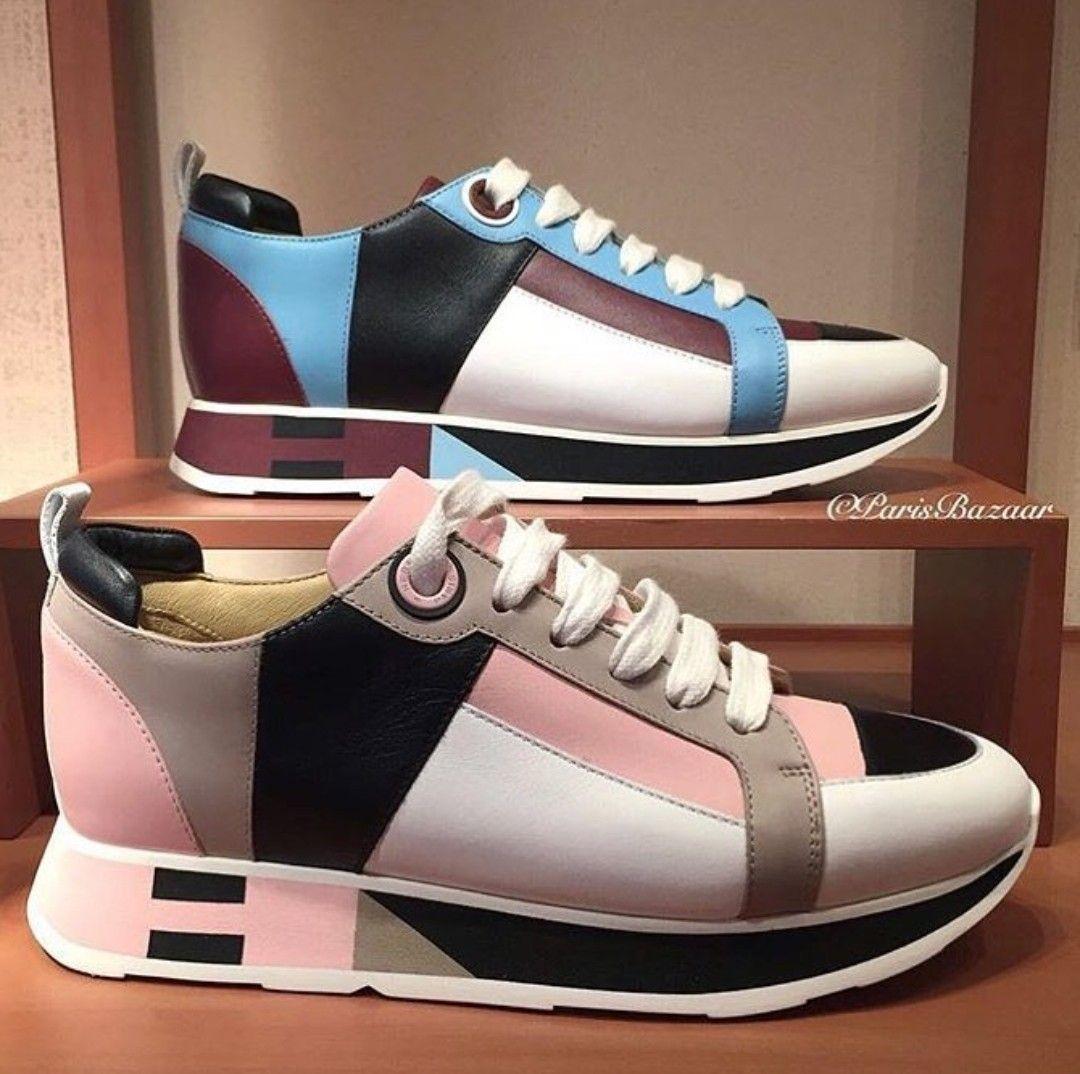Hermes Sneaker Sport | Shoes en 2019 | Zapatos de tacones