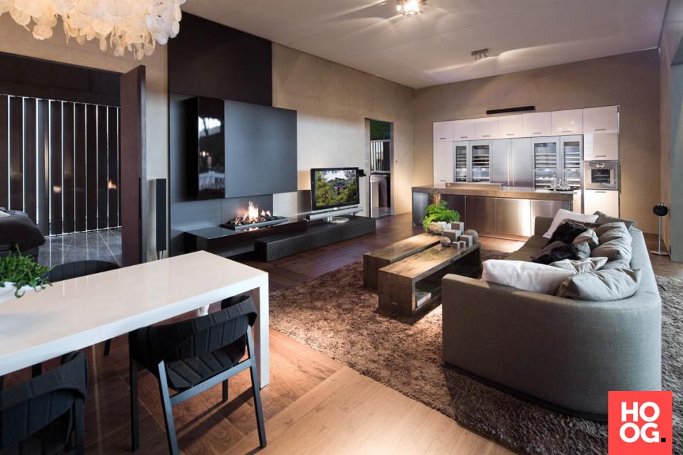 Design eettafel met luxe zitstoelen in woonkamer design | woonkamer ...