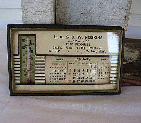 1953 Esso Products Advertising Calendar by kelleystreetvintage, $15.95