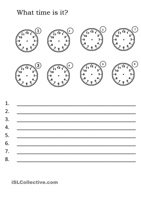 What time is it? | English tarefa. | Pinterest | Schule und Englisch