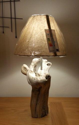 Vieux bois flott lampe lampe en bois flott for Pinterest bois flotte
