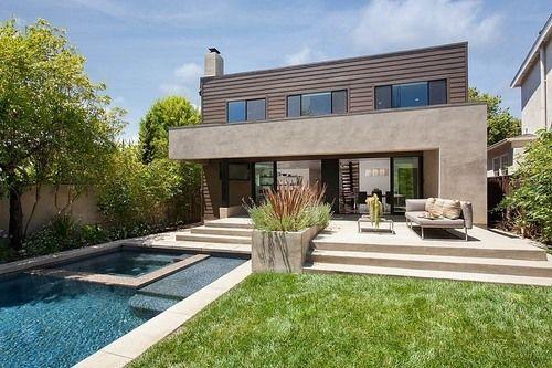 Charmante maison contemporaine familiale et sa piscine Facade design