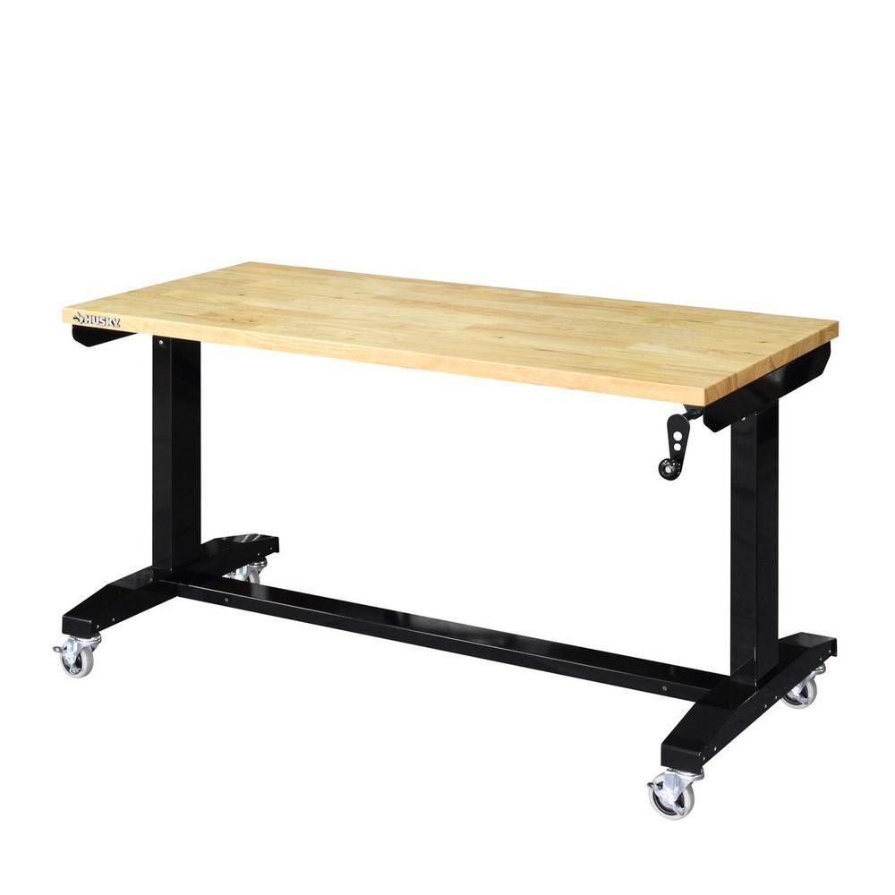 Superb Husky 52 In Adjustable Height Work Table Workbenches Uwap Interior Chair Design Uwaporg