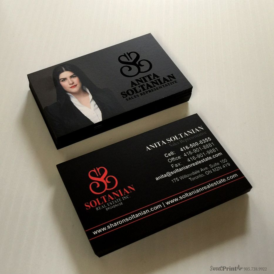 Luxury look gtgt soltanian team realtor business cards with for Realty business cards