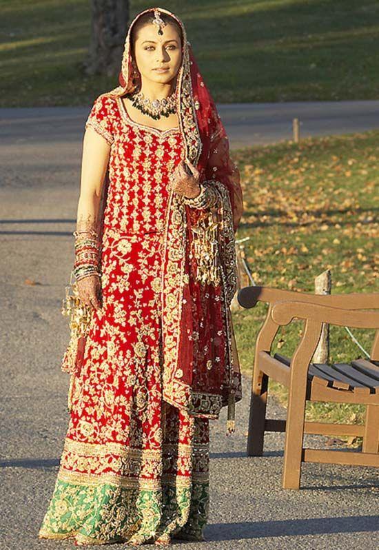 Here Comes The Bride Rani Mukerji Bollywood Bridal Indian Bridal Fashion Dresses