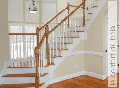 b nisterie st au qu bec conception et installation d 39 escaliers en bois franc de rampes de. Black Bedroom Furniture Sets. Home Design Ideas