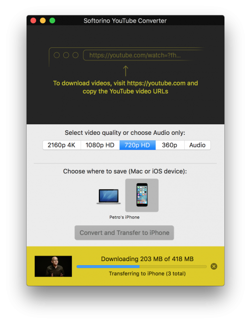 YouTube Downloader for iPhone and iPad [Requires Mac or PC