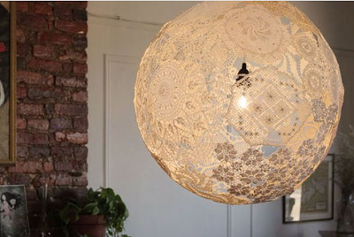 GreenFancy: Recycled fabric lampshades.