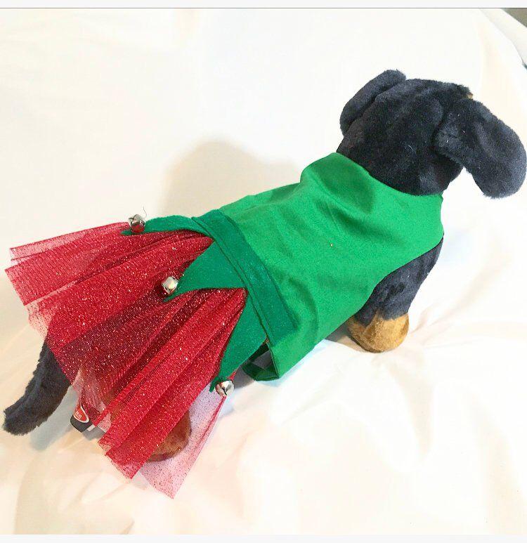 Christmas Dog Elf Costume Holiday Dog Costume Elf Dog Costume