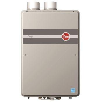 Rheem RTGH-95DVLP Prestige Indoor Direct Vent Low Nox Liquid Propane Condensing Tankless Water Heater for 3 Bathroom Homes