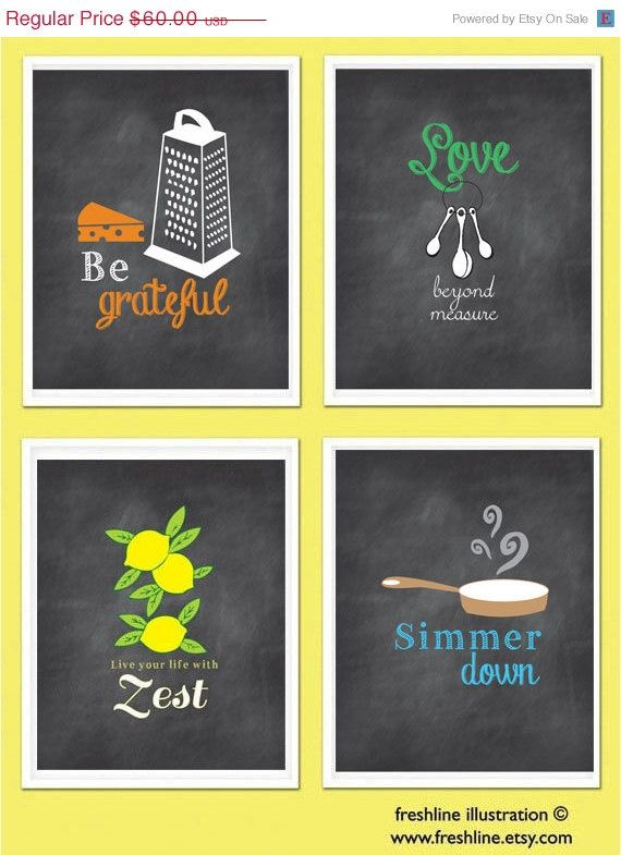 40% OFF SALE Kitchen Wall Art, Inspirational Quotes, Funny Kitchen ...