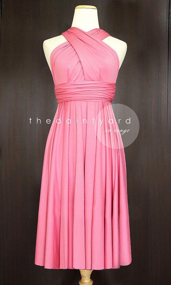 Short Straight Hem Regular Rouge Infinity Dress Multiway Dress ...
