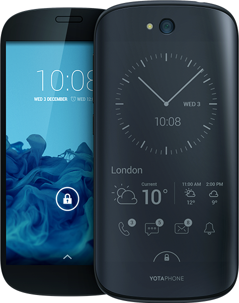YotaPhone 2 - Yota Devices • Dual-screen phone with an LCD screen on one…