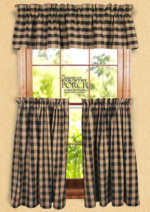 Black Teadyed Buffalo Check Curtain Valances Buffalo Check Curtains Check Curtains Curtains