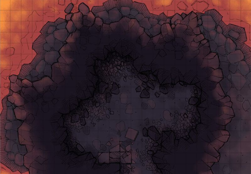 The Glowing Cavern A Battle Map For D Amp D Dungeons