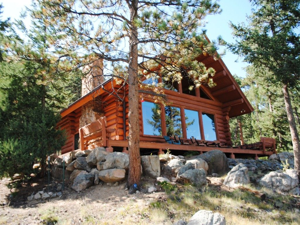 Estes park vacation rental vrbo 202885 3 br front for Vacation log homes