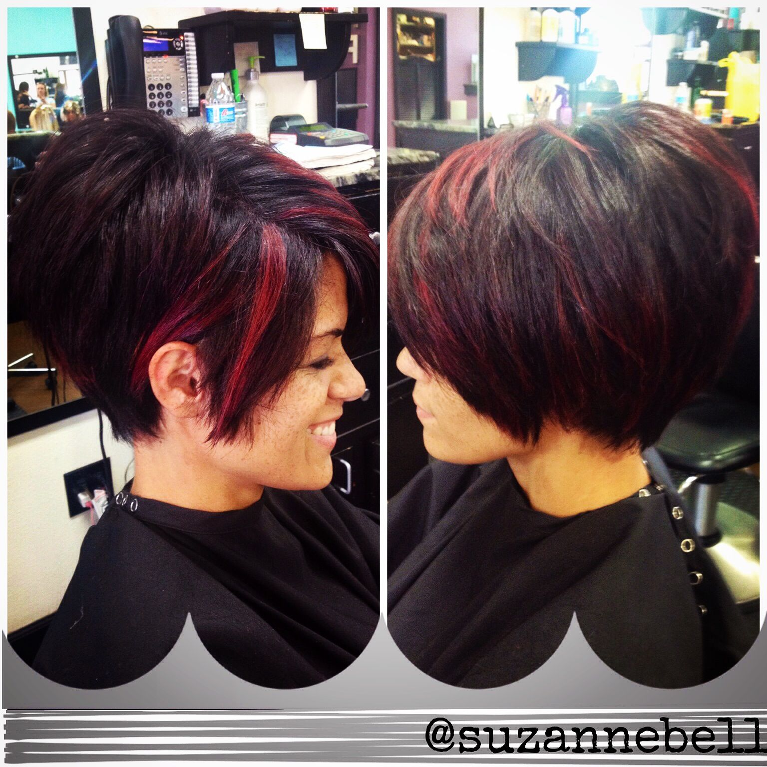 Short Stacked Layered Bob Confidence In A Haircut Hair Cuts