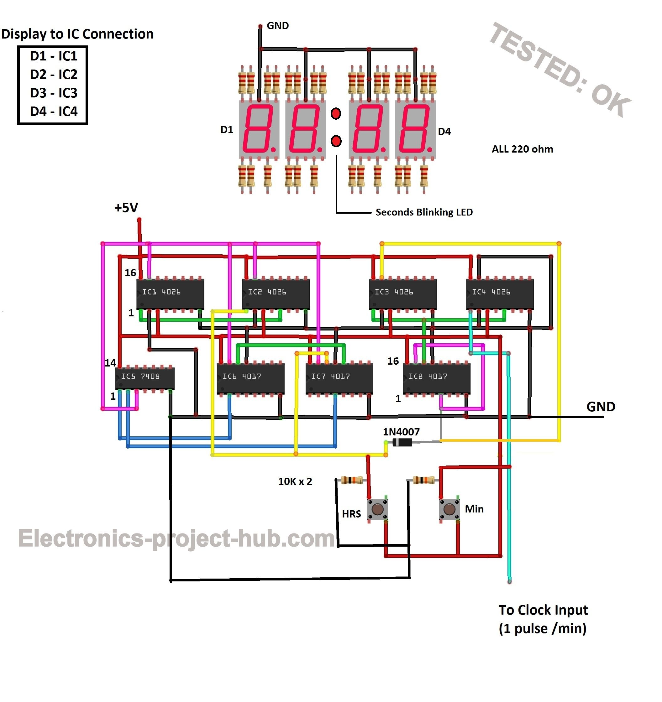 Clock Circuit Diagram Digitalcircuit Basiccircuit Circuit - Last