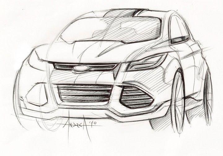 Ford Vertrek Concept - Design Sketch by Andrea di Buduo