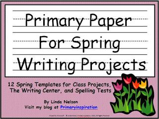 Classroom Freebies: Primary Pages for Spring Writing Projects