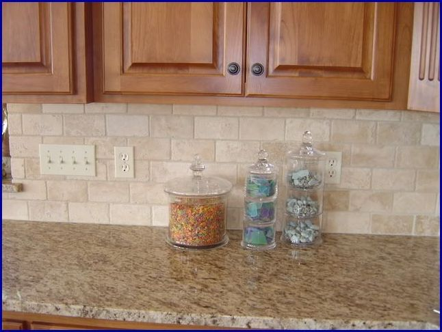 Tumbled Stone Kitchen Backsplash Ideas
