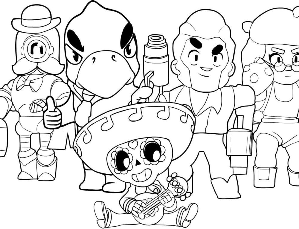 Coloring Pages Brawl Stars Print Them For Free Star Coloring Pages Coloring Pages Cute Coloring Pages