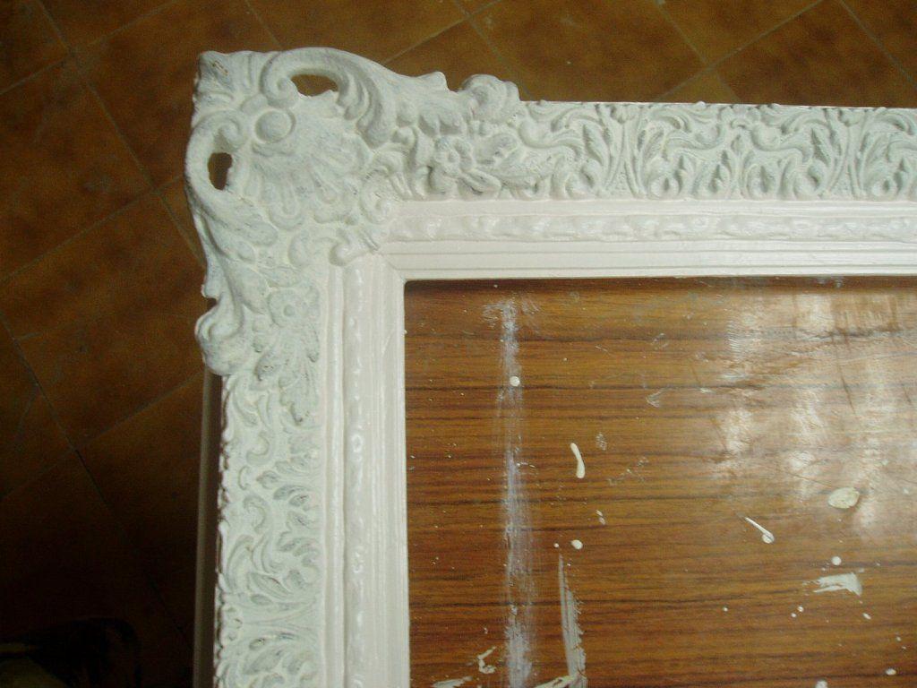 Como transformar un espejo viejo buscar con google for Pintar marco espejo