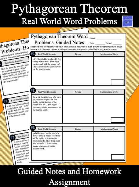 Fresh Ideas - Pythagorean Theorem Real World Word Problems in 2020
