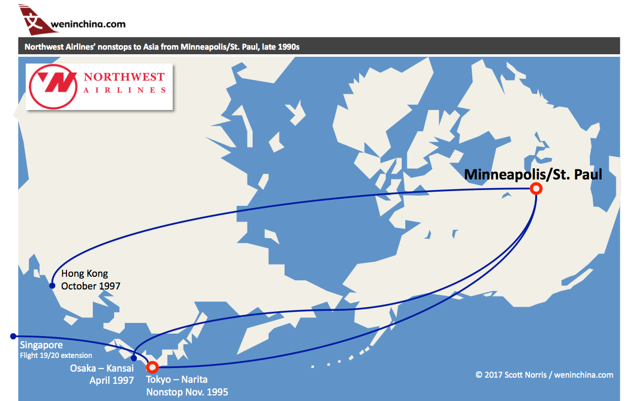 In the late 1990s, Northwest Airlines launched several ... Northwest Orient Timetable Route Map on northwest cargo, northwest area map, northwest weather map, northwest parkway map, northwest boulevard map,