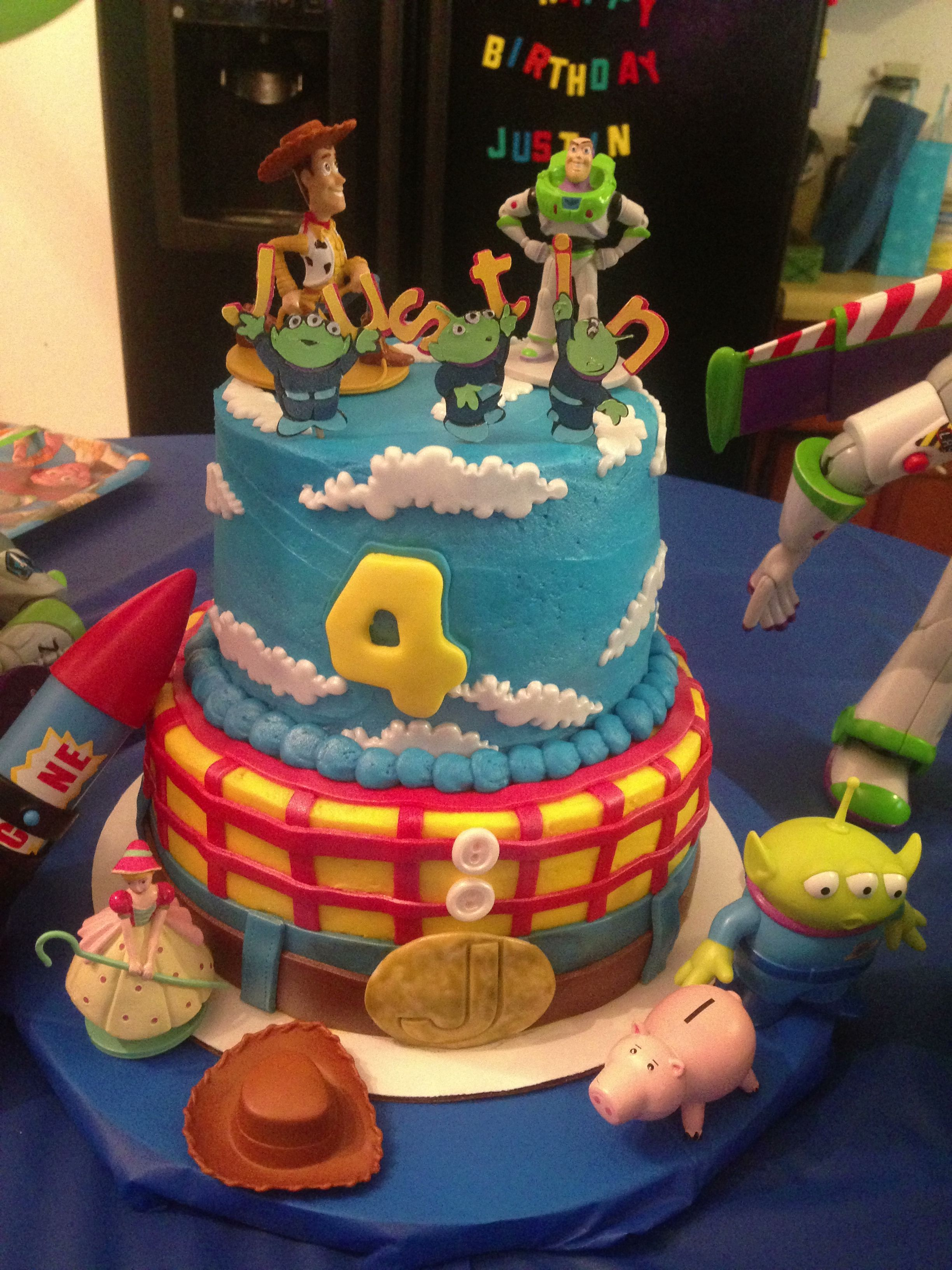 My sons 4th birthday cake! toystory disney