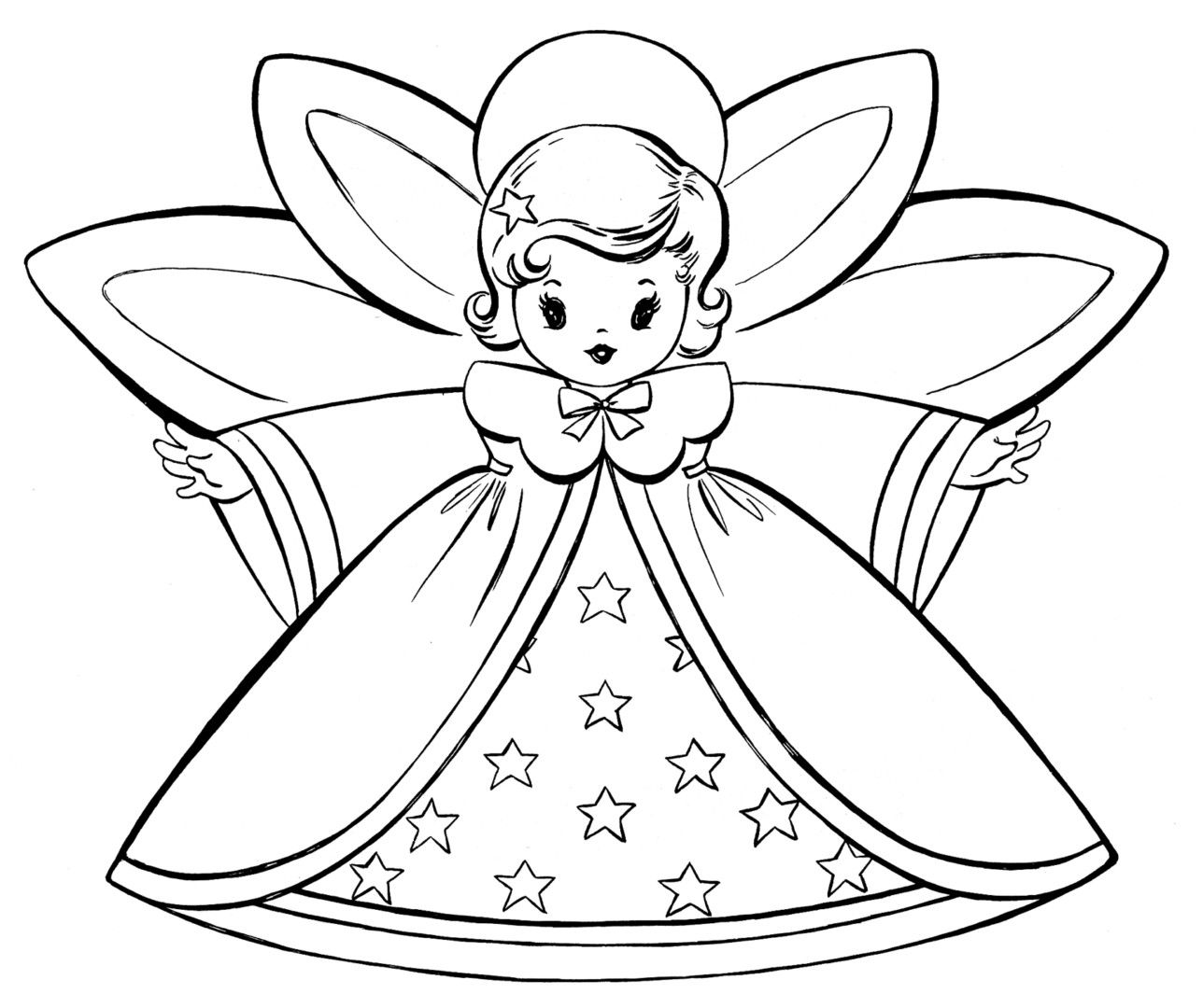 httpcoloringscochristmas angels coloring pages - Angel Coloring Page