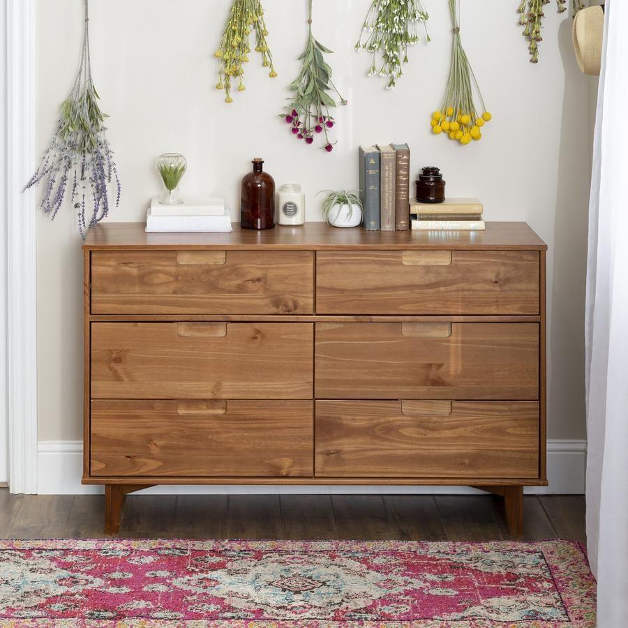 Sloane 6 Drawer Solid Wood Dresser In 2020 Solid Wood Dresser Solid Wood Furniture Design Wood Furniture Design
