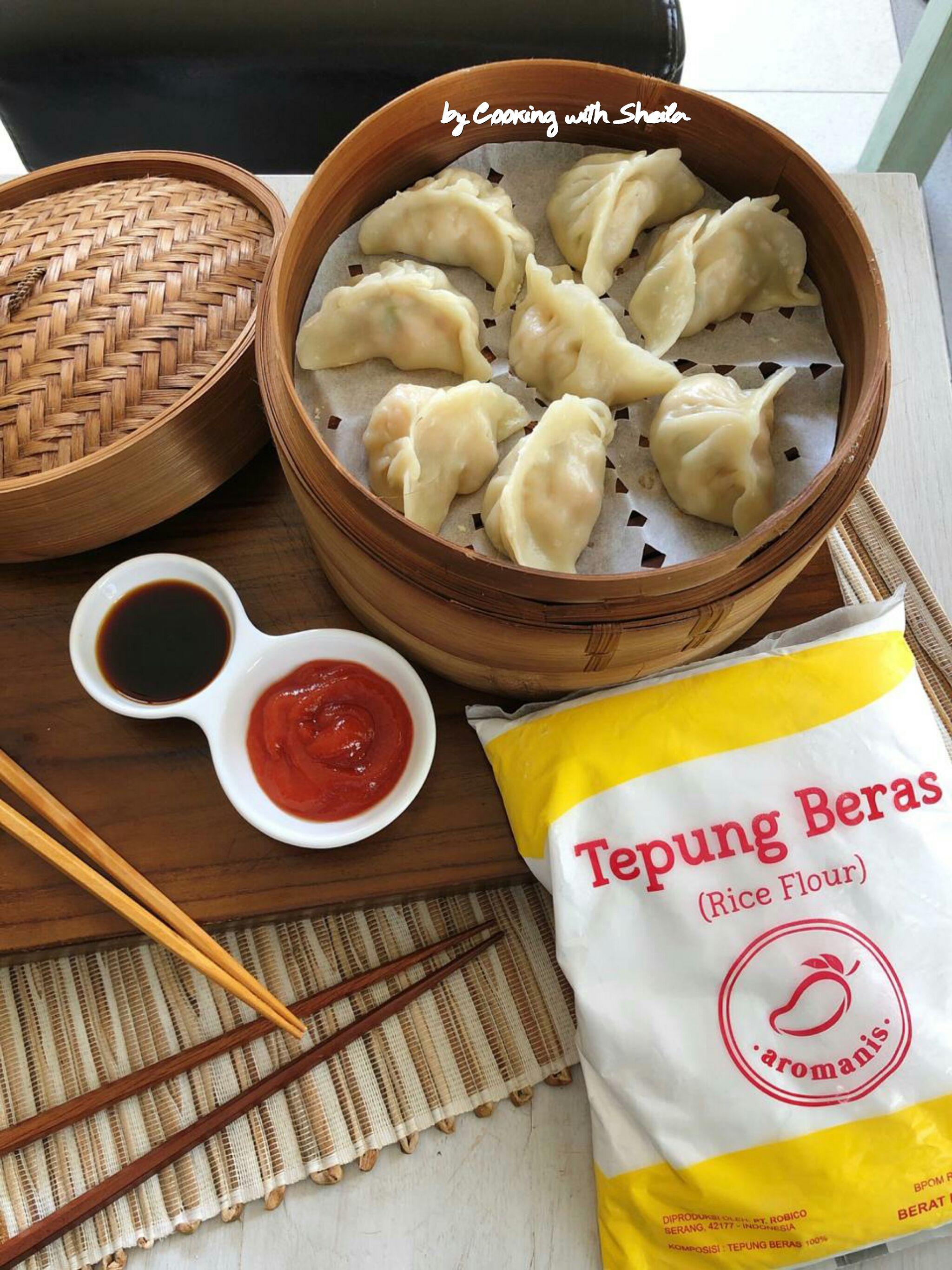 Dumpling Udang Kreasi Untuk Tepung Beras Aromanis Cooking With Sheila Resep Saus Sambal Pangsit