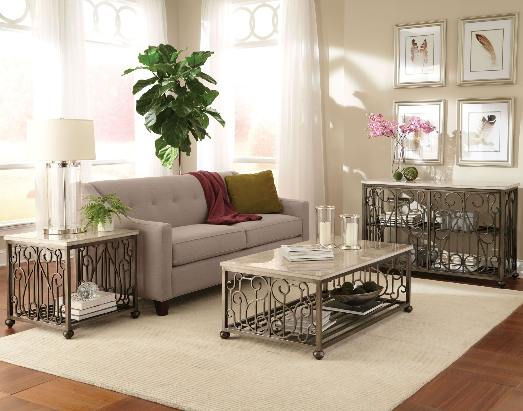 Best Toscana Rectangle Cocktail Table Set Standard Furniture 640 x 480