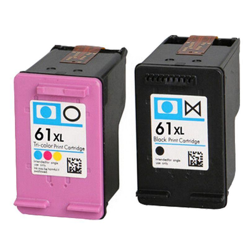 2 pk ink cartridges for hp 61 xl envy 4500 4504 5530 officejet 2620