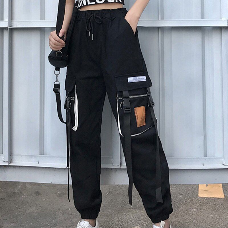 US $24.43 30% OFF|Spring Patchwork Cargo Pants Wom