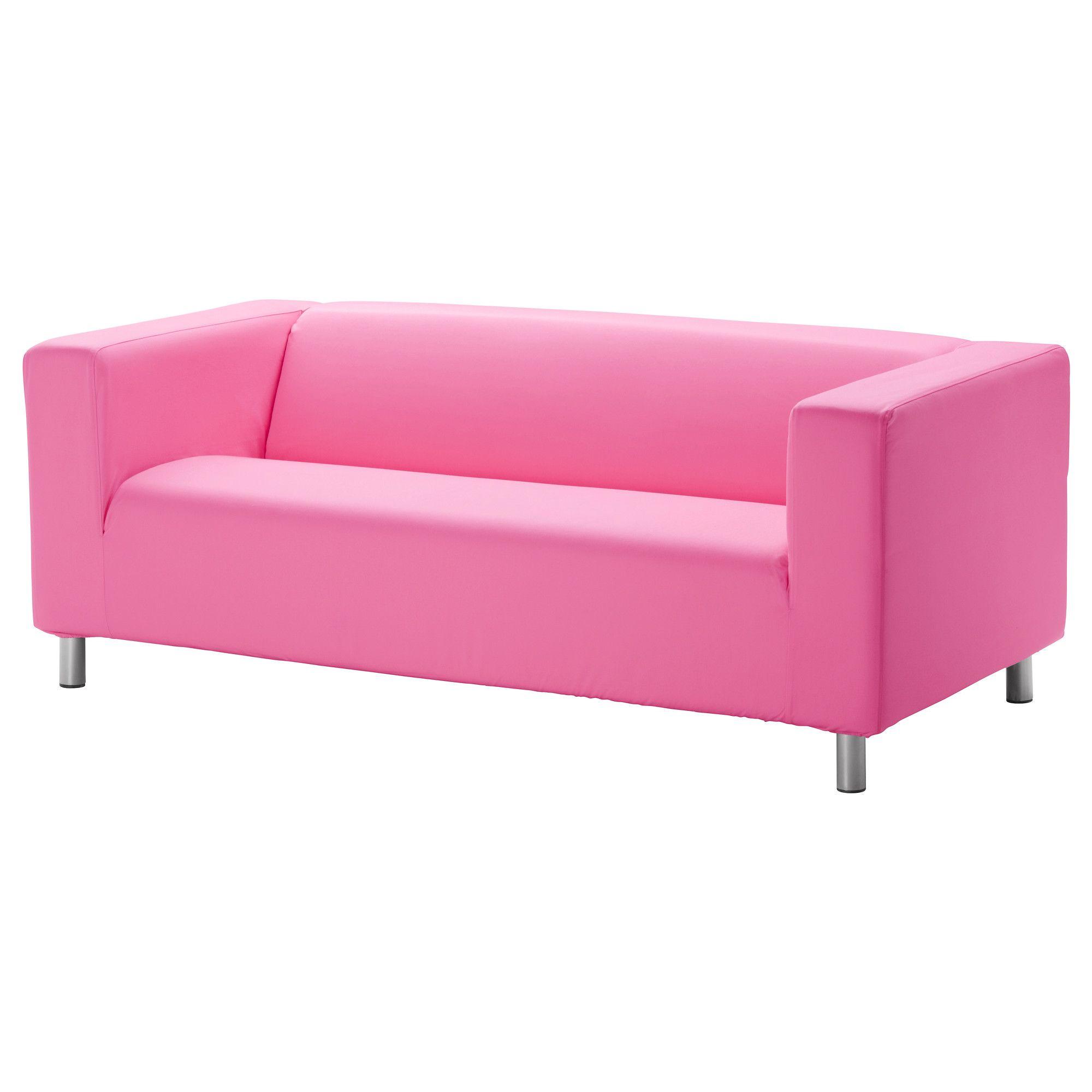 Klippan Two Seat Sofa Granån Pink Ikea