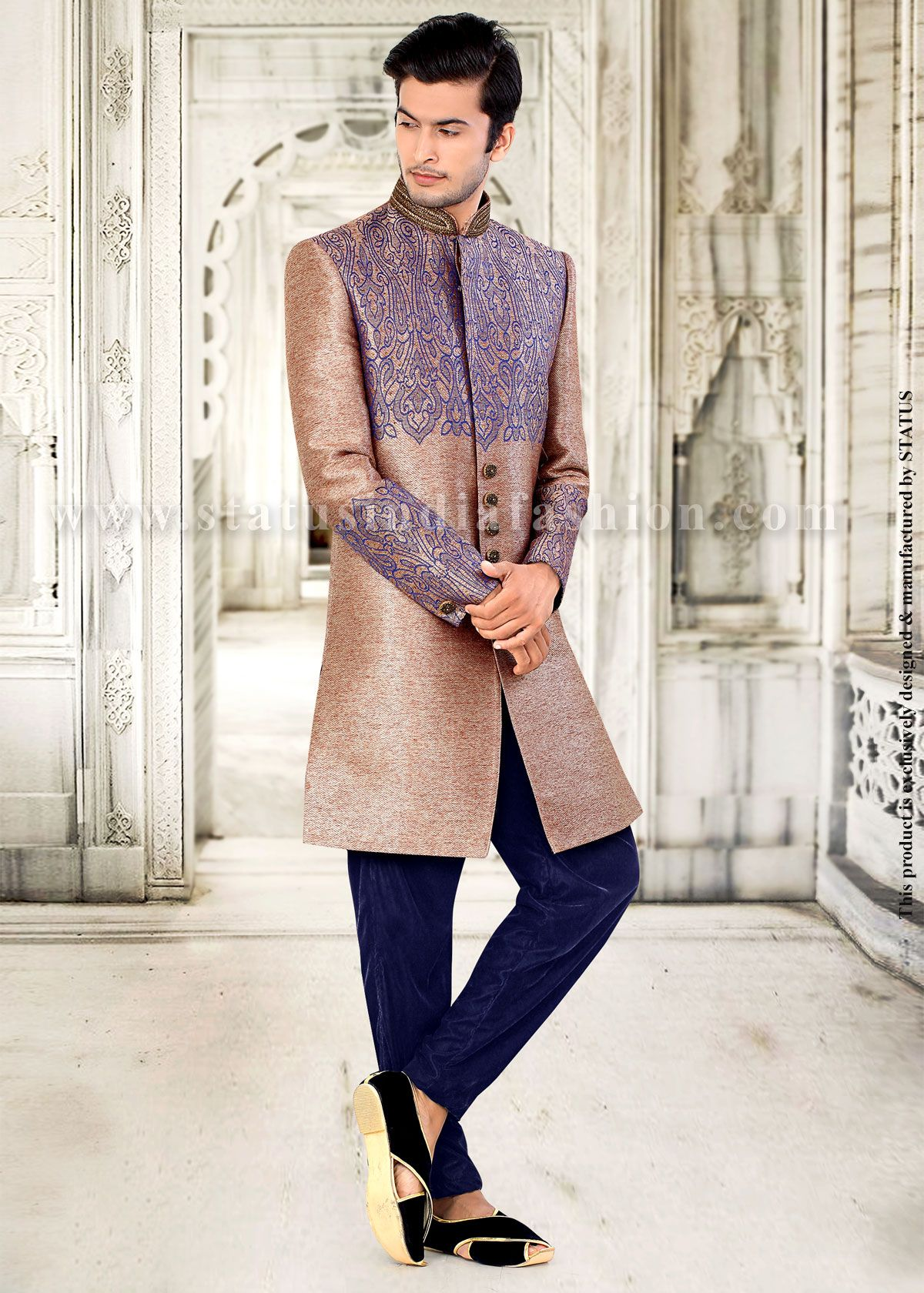 Mens wear groom wedding dress groom sherwani designer indo