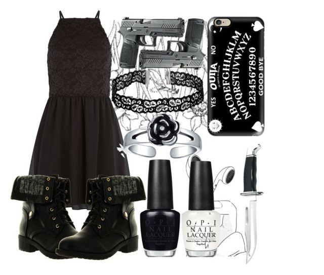 """""""Undercover"""" by itgetsworse ❤ liked on Polyvore featuring New Look, Casetify, Refresh, Bling Jewelry and OPI"""