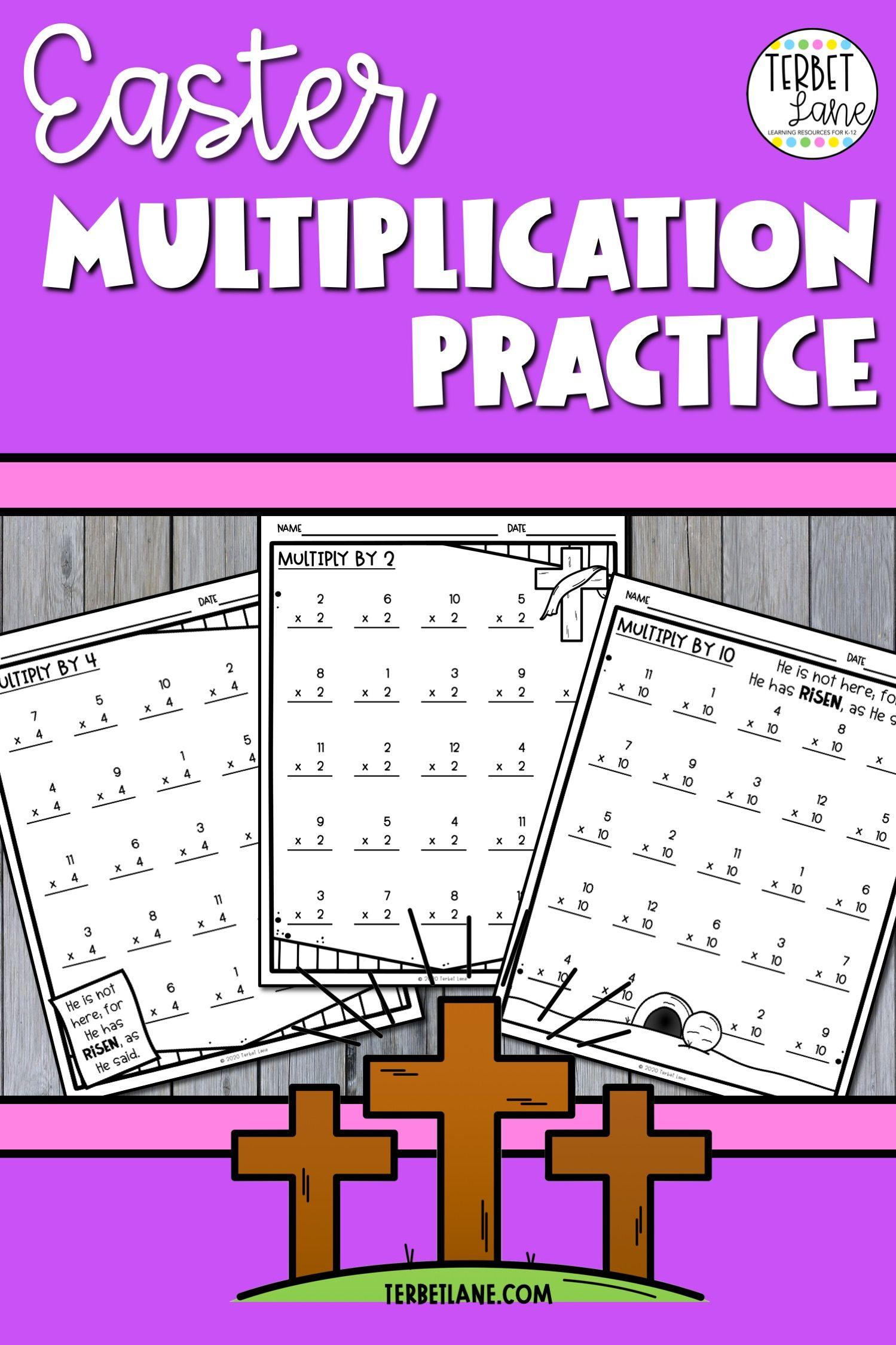 Easter Multiplication Worksheets