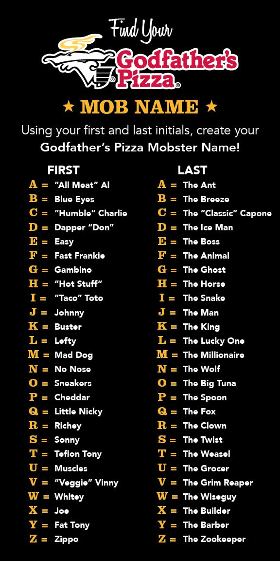 Good mobster names