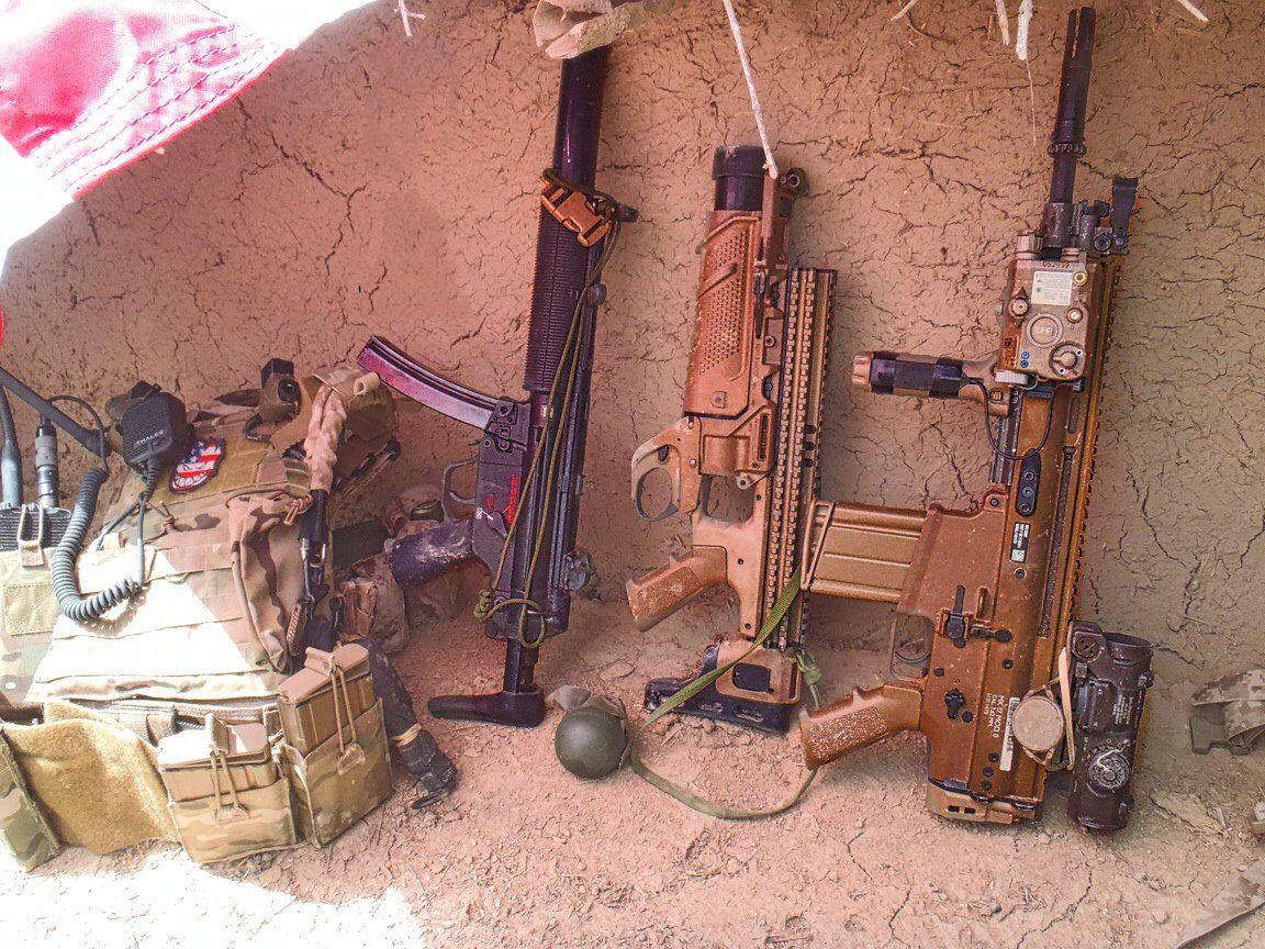 U.S. Navy SEAL's MP5SD, FN MK13, & FN SCAR-H CQC